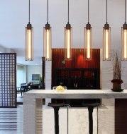 Retro wrought iron chandelier