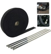 Motorcycle exhaust pipe insulation belt