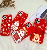 Christmas red cartoon frosted painted phone case