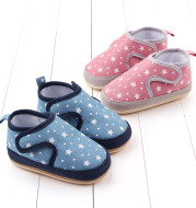 Casual toddler shoes with rubber soft sole