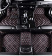 Fully Surrounded Car Leather Floor Mat Pad All Weather Protection