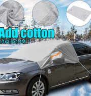 Frost cover for car windshield cover