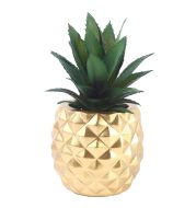 Resin ornament pineapple plant green plant white collar office table ornament
