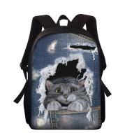 Cowboy hollowed-out pet cat children's schoolbags