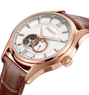 Fully automatic window and bottom mechanical watch