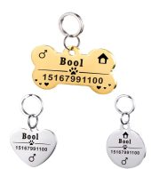 Personalized Dog ID Tag Stainless Steel Pet ID Tag