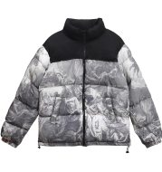 Figure Printed Cotton Padded Jacket For Men