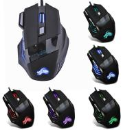 Wired Gaming Mouse 5500DPI 7-Color LED Backlight Optical Mouse Gamer USB 7 Buttons PC Gamer Computer Laptop Desktop Mice