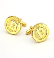 Men's Gold Bitcoin Cufflinks Spot Business