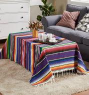 Flag Woven Tablecloth Tassel Blanket Beach Blanket Beach Mat