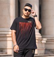 Loose European And American Hot Drill Half Sleeve T-shirt
