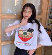 Girly T-Shirt Hong Kong Flavor Loose Korean Short-Sleeved Female Ins Top