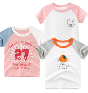 27home brand children's clothing summer new 2021 Korean version of children's short-sleeved T-shirt girls clothes a consignment ins