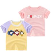 Summer Children T shirt New Korean Short Sleeve Girls Half Sleeve Top
