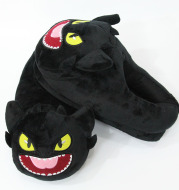 Night Evil Plush All Inclusive Slippers Toothless Cartoon Plush Indoor Shoes Warm Shoes