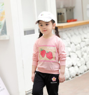 New Children's Terry Fruit Sweater With Long Sleeves