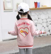 Fleece Jacket Baby Print Clothes Zipper Shirt
