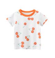 Fashion Summer Print Girls Short Sleeve T-shirt
