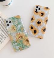 Shell Pattern Ring Buckle Sunflower Flower Phone Case