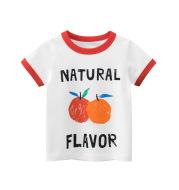 Girls Print Cartoon Korean Fruit Short Sleeve T-shirt