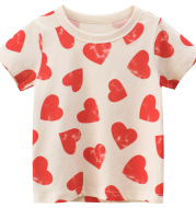 Children's Short Sleeve Printed T-Shirt Baby Clothes Girl