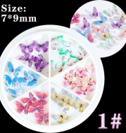 Heat Shrinkable Film Finished Small Butterfly Nail Decoration