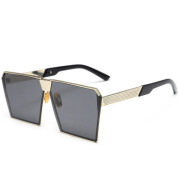 New Sunglasses Women Men Oversized Square Glasses UV400 Gradient Vintage Brand Designer Eyeglasses Frames Rimless Glass