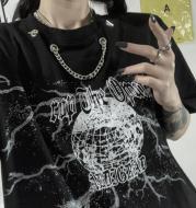 Harajuku Dark Hip Hop Personalized Printed Short Sleeve T-shirt