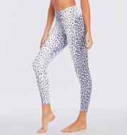 Multicolor High-waist Buttocks Brushed Leopard Print Yoga Pants