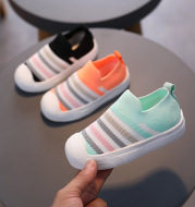 Candy-colored Flying Woven Breathable Casual Shoes