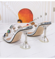 European And American Personality Cool Rhinestone Sandals