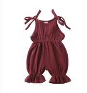Baby Girl Clothes Romper Jumpsuit Halter Summer Outfit