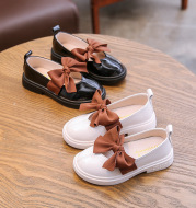Children's Bowknot Soft Sole Casual Leather Shoes