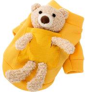 Cat cute teddy bear pet clothes two-legged clothes