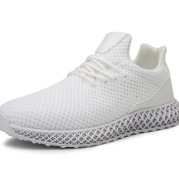 Summer New Casual Mesh Shoes Men's White Shoes