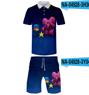 Printed 3D Short-sleeved Male Small P Youyou Pocoyo Printing Surrounding