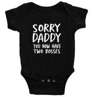 Children's Alphabet Sorry Daddy Printed Romper Romper