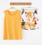 Fashion Casual Cotton Vest Sleeveless Shorts Pajamas