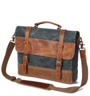 Fashion Men's Canvas Shoulder Messenger Bag Briefcase