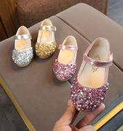 Children's Leather Shoes Girl's Princess Diamond Single Shoes