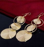 Circle Long Fashion Earrings Exaggerated Earrings Ear Hook Earrings