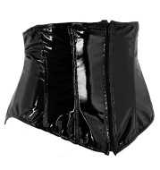 Sexy Short PU Leather Waist Clip Corset European and American Court Corset
