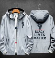 Black people's life is also life. Same jacket men's spring and autumn thin youth men's printed casual clothes