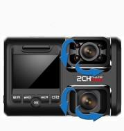 HD 2160P No Light Night Vision Driving Recorder Dual Lens