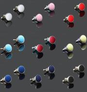 Men's Solid Color Metal Yarn-Dyed Mercerized Cloth Cufflinks