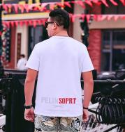 Large Size Fashion Letter Printed T-shirt Men