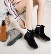 New Autumn And Winter Snow Boots Women's Plus Size Plus Velvet Cotton Shoes