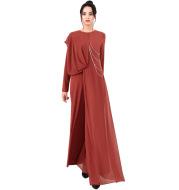 Fashionable Muslim Women's Pure Color Simple Jumpsuit