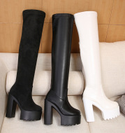 Fashion Women's Thick Heel High Heel Over The Knee Boots