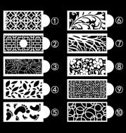Pattern Totem Cake Lace Spray Pattern Baking Utensils